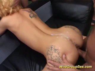 Skinny Tattooed MILF Wild Gang Banged, Porn fb