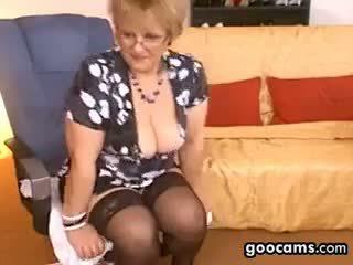 mooi grote borsten film, plezier webcam film, oma