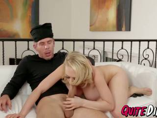 Busty Babe Kagney Linn Splashed by a Hot Jizz Over His