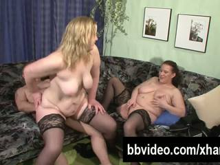 Two Busty Slags Share a Hard Prick, Free Porn 04