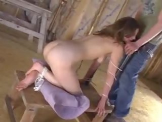 brunette posted, nice bound action, rated bondage