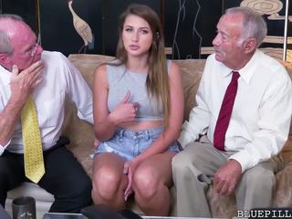 Ivy Rose gets Fucked by Old Grandpa, Free Porn f4