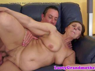 beste mollig actie, mooi grote borsten video-, oma