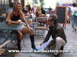 français, femdom, ballbusting