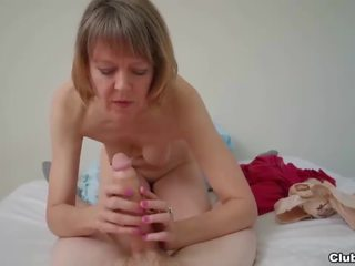 Naughty Granny POV Handjob, Free Club Tug Porn 29