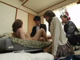 groupsex, japanese, pussyfucking, blowjob