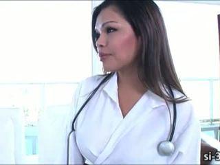 Lustful tranny nurse Carmen Moore fucked