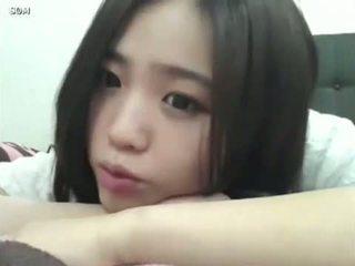 schattig kanaal, meisje, koreaans