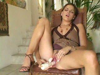hottest brunette scene, toys porn, watch vibrator scene