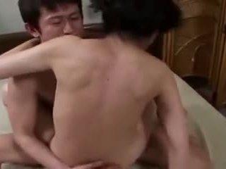 brunette, orale seks, japanse, vaginale sex