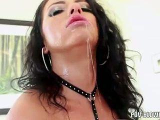 echt deepthroat porno, slordig porno, een olie mov