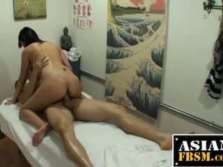 Dick Riding Asian Masseuse