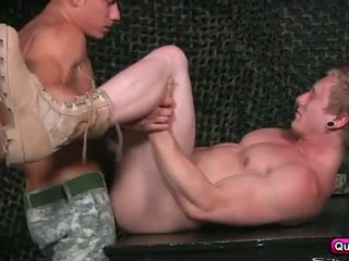 Military guys spend the day fucking.