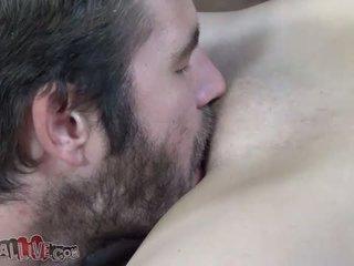 Carmen Valentina squeezes her tits