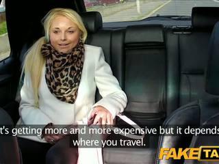 FakeTaxi Blonde sucks cabbie's dick backseat