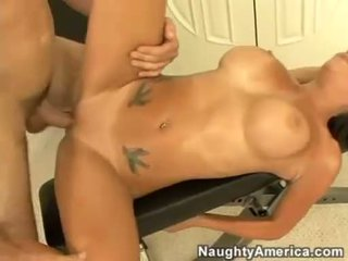 Bitchy whore Isis Monroe gets her face creamed after a nice hard one on one