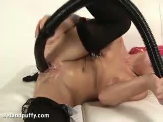 groot brunette, controleren speelgoed mov, online masturbatie klem