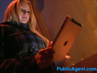 PublicAgent Blonde meets guy in street before fucking him at home