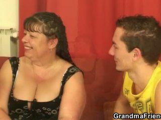groot mmf kanaal, controleren grootmoeder vid, vers vet scène