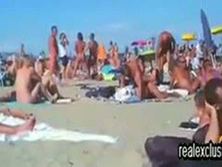 Público nua praia troca de casais sexo em verão 2015