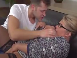Big Busty Mature Blonde MILF Fucks Young Guy: Free Porn 15
