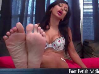 heet voet fetish, mooi femdom, kwaliteit pov
