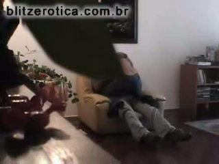 Spycam fucking girlfriend on couch