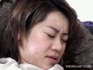 Japanese Pussy Fucked With Vegetables