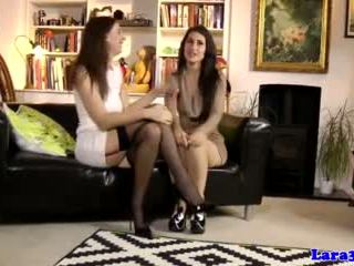 Classy Mature Pussylicking Euro in Stockings