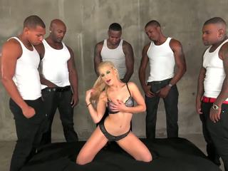 Ashley Fires taking 5 big black cocks