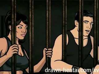 Archer hentai - penjara seks dengan lana
