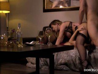brunette porn, more lingerie mov, great ffm