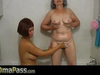 老, 奶奶, 浴室