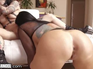 Joanna Angel & Romi Rain Eagerly Share HUGE BBC!