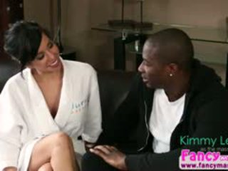 Horny And Asian Kimmy Lee Gets Fucked By Black Stud Rob