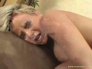 Big tits Bree Olson gets a warm jizz on her mouth