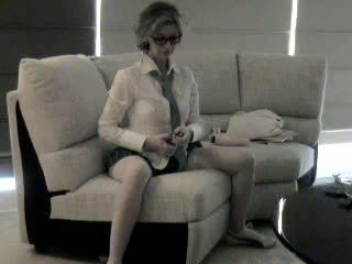 Milf with glasses blows cock