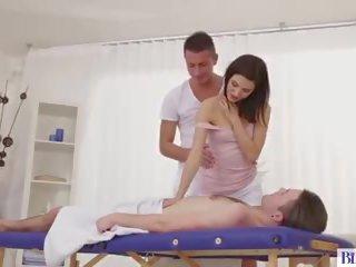anaal, meest massage film, drietal neuken