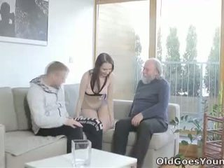 She has a serious taste for cock but she didnt think old men could satisfy her like they can