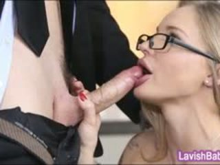 Babe In Glasses Staci Carr Gets Screwed Hard On The Desk