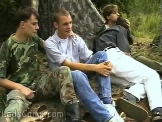 Group gay fuck-fest in the woods