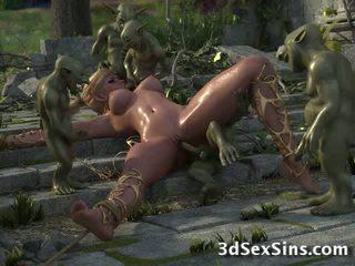 3D Elven Princess Gang banged