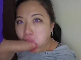 echt deepthroat klem, mooi slordig klem, beste facefuck
