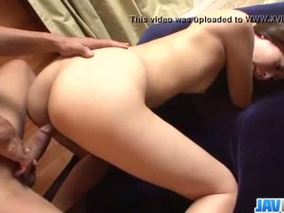 Deep penetration hardcore sex show with hot Risa Misaki
