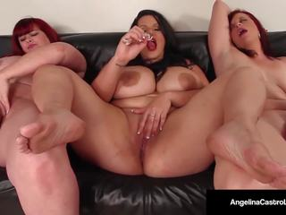 Cuban Cunt Angelina Castro & 2 Bbws Make 3 Plump Pussies