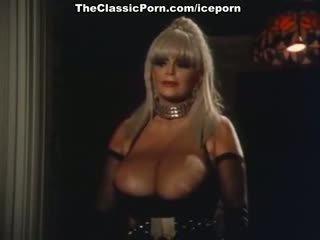 wijnoogst scène, mooi pornstar klem, vol blond porno