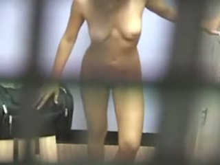 Girl Taped While Changing In The Locker Room