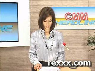 Uudised reporter gets bukakke jooksul tema töö (maria ozawa bu