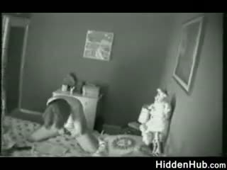 Mother Caught Masturbating By A Hidden Camera