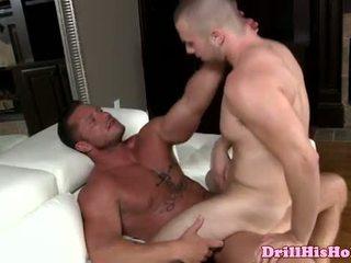 Vicious gay stud ass pounding peg b-y